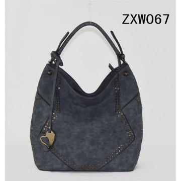 2017 New Fashion Design PU Lady Tote Handbag