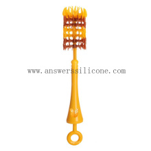 Custom Food Grade Silicone Baby Bottle Cleaning Brush