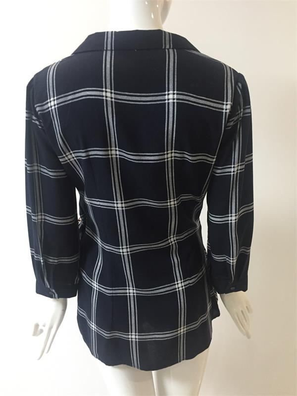 Long Loose Viscose Check Shirt