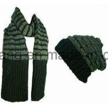 Customized Winter Warm Knitted Acrylic Set