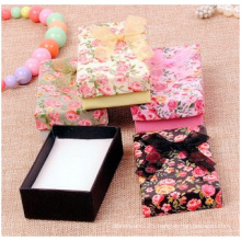 Roses Jewelry Paper Box Ribbon Bow Ring Box Necklace Box