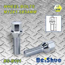 M12X1.5X54mm Hex 17mm Thread Length 26mm Wheel Bolt