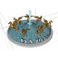 Tamanho de vida personalizado ou estátua de cavalo de latão de tamanho grande