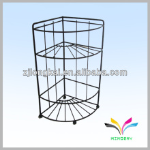Made-in China black 2-tire trigntle kitchen wrought iron shelf