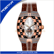 Psd-2325 The Leather Watch Band reloj automático color caja unisex reloj de pulsera de moda