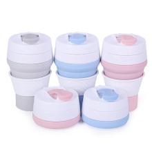 Taza de café reutilizable taza de café plegable de silicona