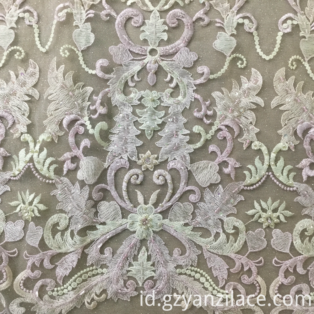 Wedding Bead Lace Fabric