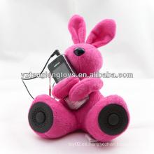 Novedad felpa altavoz conejo DJ para MP3 y ordenador PSP