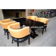 Modern restaurant chair and table set XY0189