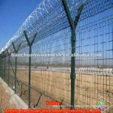 Alambre de púas alambre de acero de baja alambre cerca del aeropuerto
