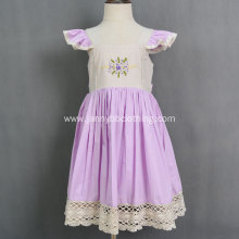 Embroidered High quality Girls Boutique smocked dress