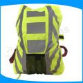 Amarelo cor alta visibilidade impermeável mochila de segurança reflexiva para o exterior