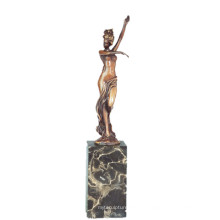 Female Art Collection Bronce Escultura Nude Lady Decor Latón Estatua TPE-739