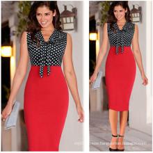 Women Knee-Length Dress MIDI Pencil Office Dress (Dress 116)