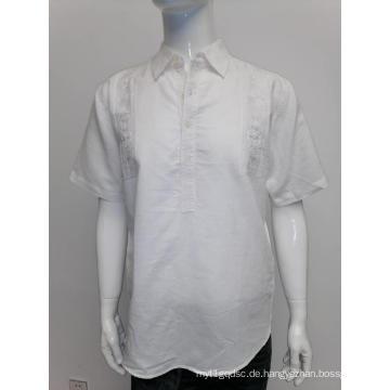 Herren-Kurzarmhemd aus Ramie-Baumwolle