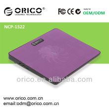 Cofre de refrigeração para laptop de 14 polegadas, cooler notebook com porta usb