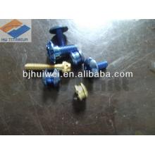 Gr5 titanium bicycle screws with various colors