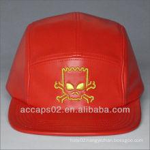 leather 5 panel cap
