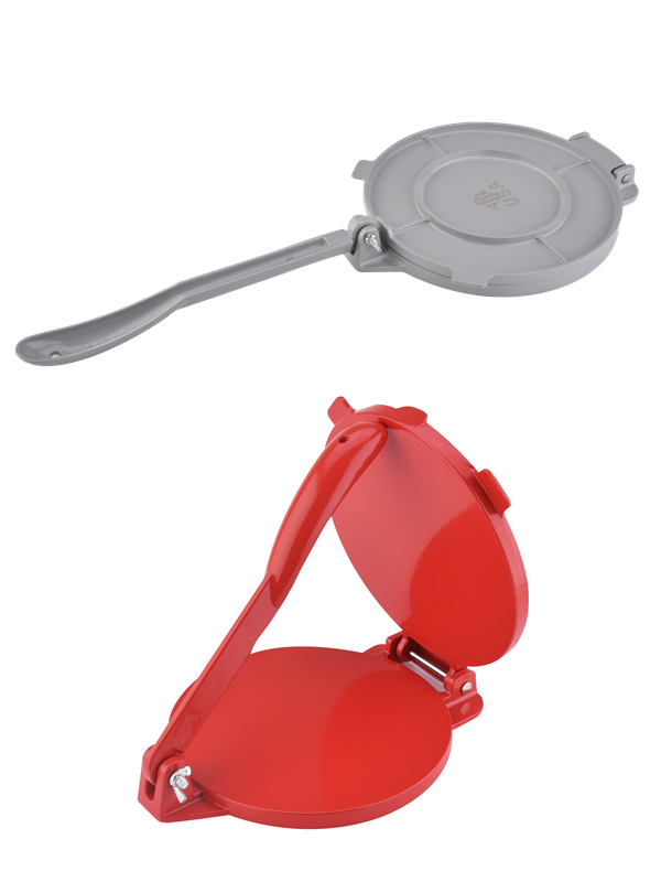 Red And Grey Tortilla Press