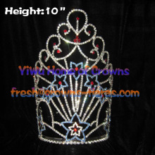 Wholesale Star Crystal Crowns--Forth of July Pageant