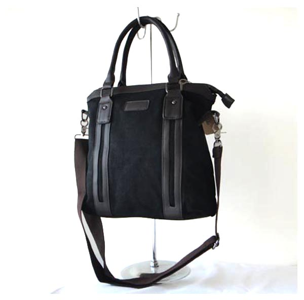 Leather Mix Canvas Luggage Handbag