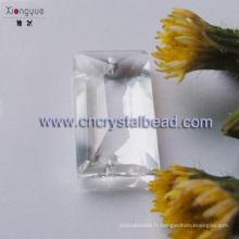 Perles en cristal clair rectangulaire haute qualité en vrac