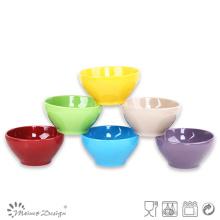 Esmalte sólido de cerámica del tazón de fuente 13.5cm en diversos colores