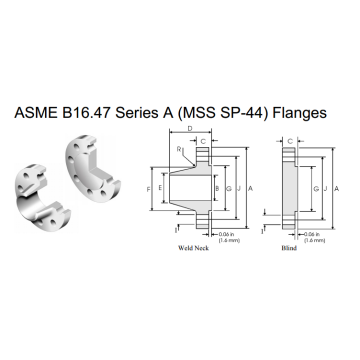 Flange ASME B16.47 serie A (MSS SP-44)