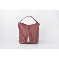 Minimalist Pure Color Female Fashion Bucket Drawstring Bag