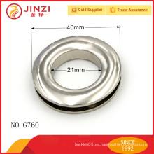 Brillante círculo de níquel anillo de bolsos Accesorios de hardware
