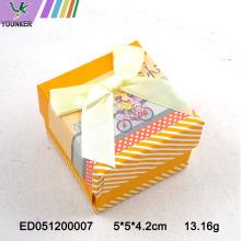 Karton Design Papier Ring Box Schmuckschatulle Bow