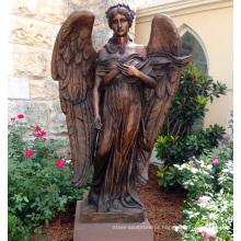 bronze de alta qualidade estátua de anjo alado