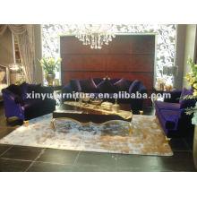 Velvet fabric classical sofa A10095