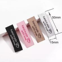 Factory Low Price Custom Brand Name Fabric Tags Fashion Cotton Tags Tshirt Tag