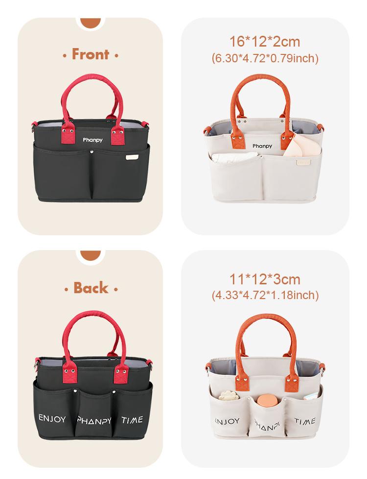 Bolso multifuncional para pañales para mamá, carrito de maternidad, bolsas de almacenamiento para bebés, organizador portátil para guardería con logotipo personalizado