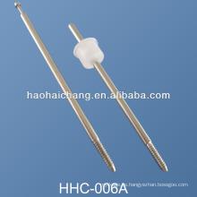 Perno roscado de acero niquelado del CNC del torno del CNC de la precisión