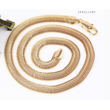 43085 collar de joyería de serpiente de oro fresco de moda 18k en aleación de metal