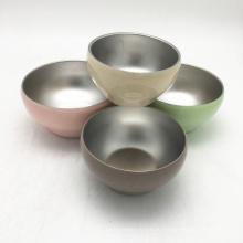 Многоразовые 13 унции цвета окрашены обеденные наборы из нержавеющей стали мини-миски