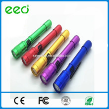 Trade Assurance sturdy pen clip low price colorful led torch