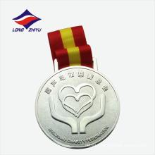Médaille de moulage en poudre ronde en argent de la Chine