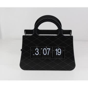 Ladies Handbag Funny Flip Clock