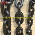 Cadena de ancla sin pavés marina pintada negra