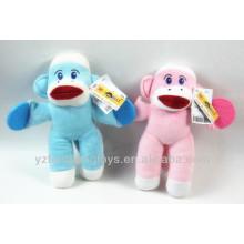 Juguete de mono relleno juguete rojo grande boca calcetín mono