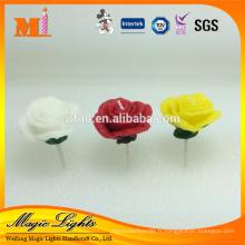 Bougie de mariage en forme de fleur colorée rose, bougie de la Saint-Valentin