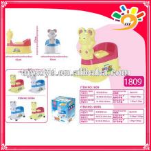 Plastik-Töpfchen mit Rädern bewegliche Baby-Töpfchen Mini-WC