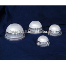 Domed White Cosmetic Packaging Acrylic Cream Jar 5ML 15ML 30ML 50ML