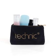 Bolsas de maquillaje con estampado de letras negras