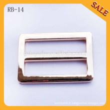 RB14 Or sans agrafes métalliques de boucle à glissière à main pour pièces de sacs