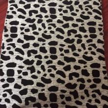 Precio barato de la tela de la tapicería del flock del diseño animal
