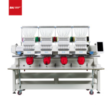 BAI Industrial-grade high-quality 4-head 12-needle multifunctional computer hat and shirt flat embroidery machine
